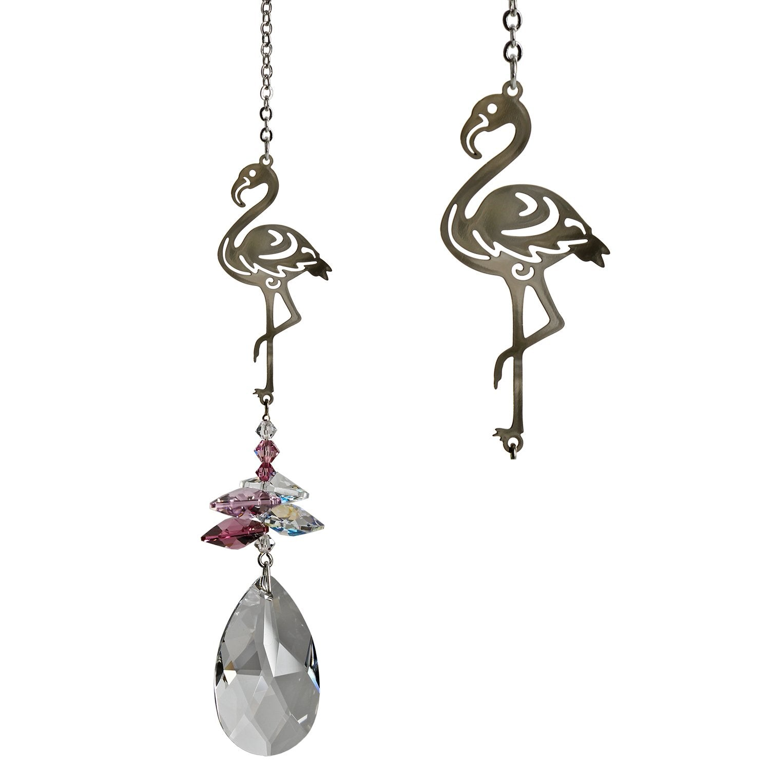 Crystal Fantasy Suncatcher - Pink Flamingo main image