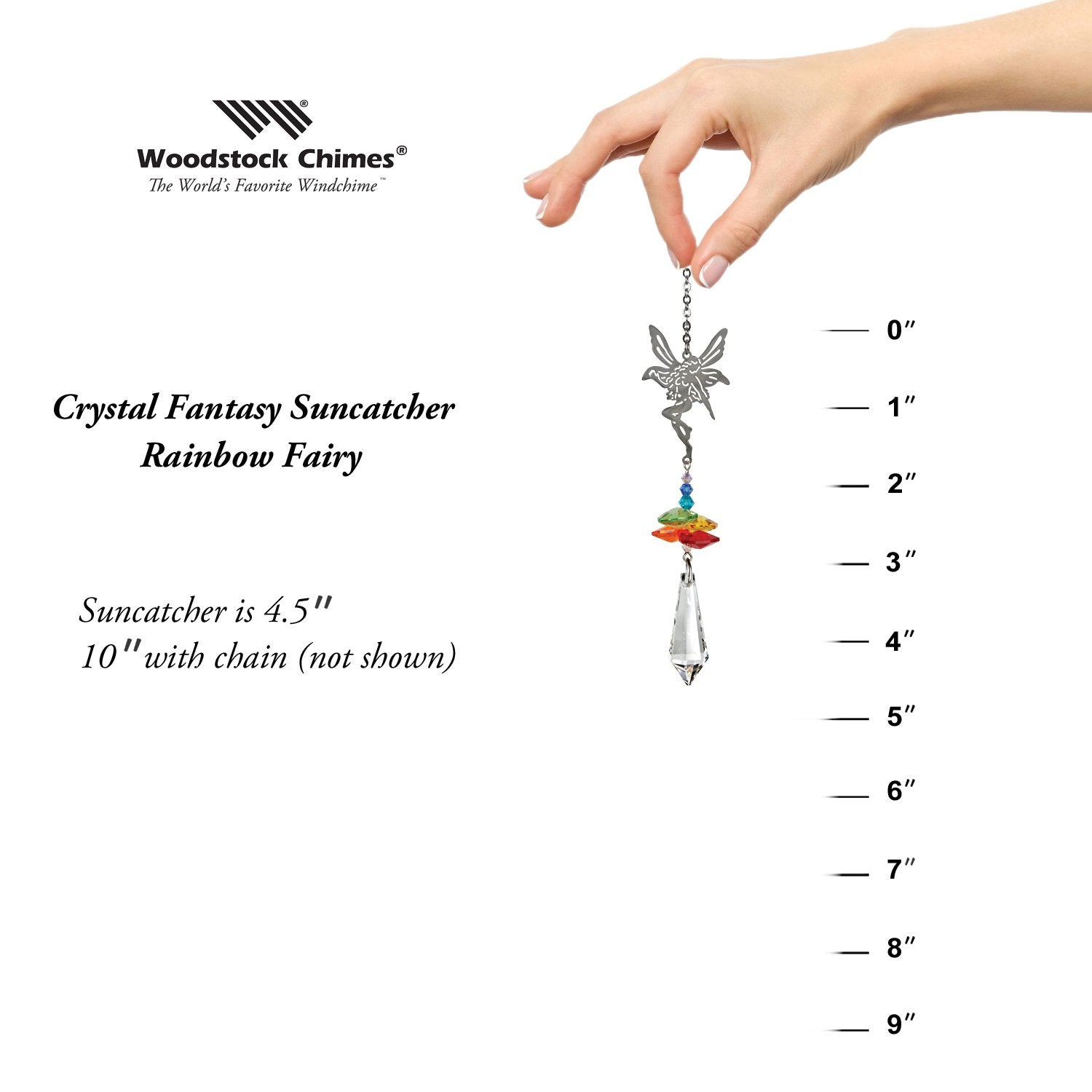 Crystal Fantasy Suncatcher - Rainbow Fairy proportion image