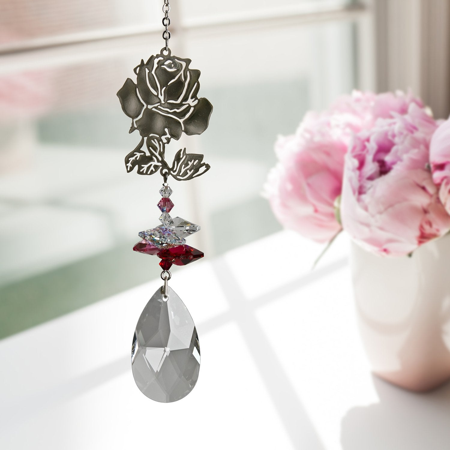 Crystal Fantasy Suncatcher - Rose lifestyle image