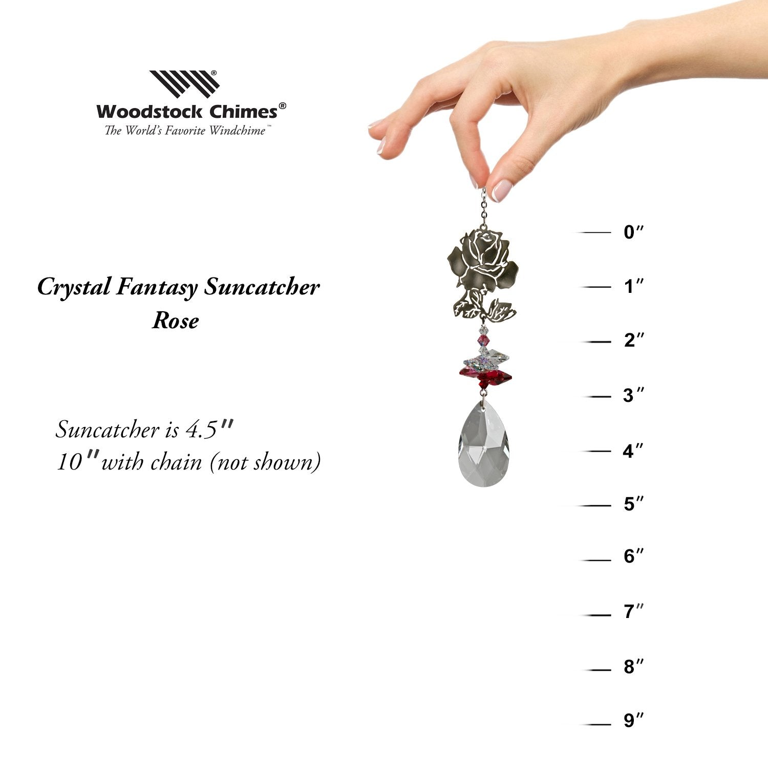 Crystal Fantasy Suncatcher - Rose proportion image