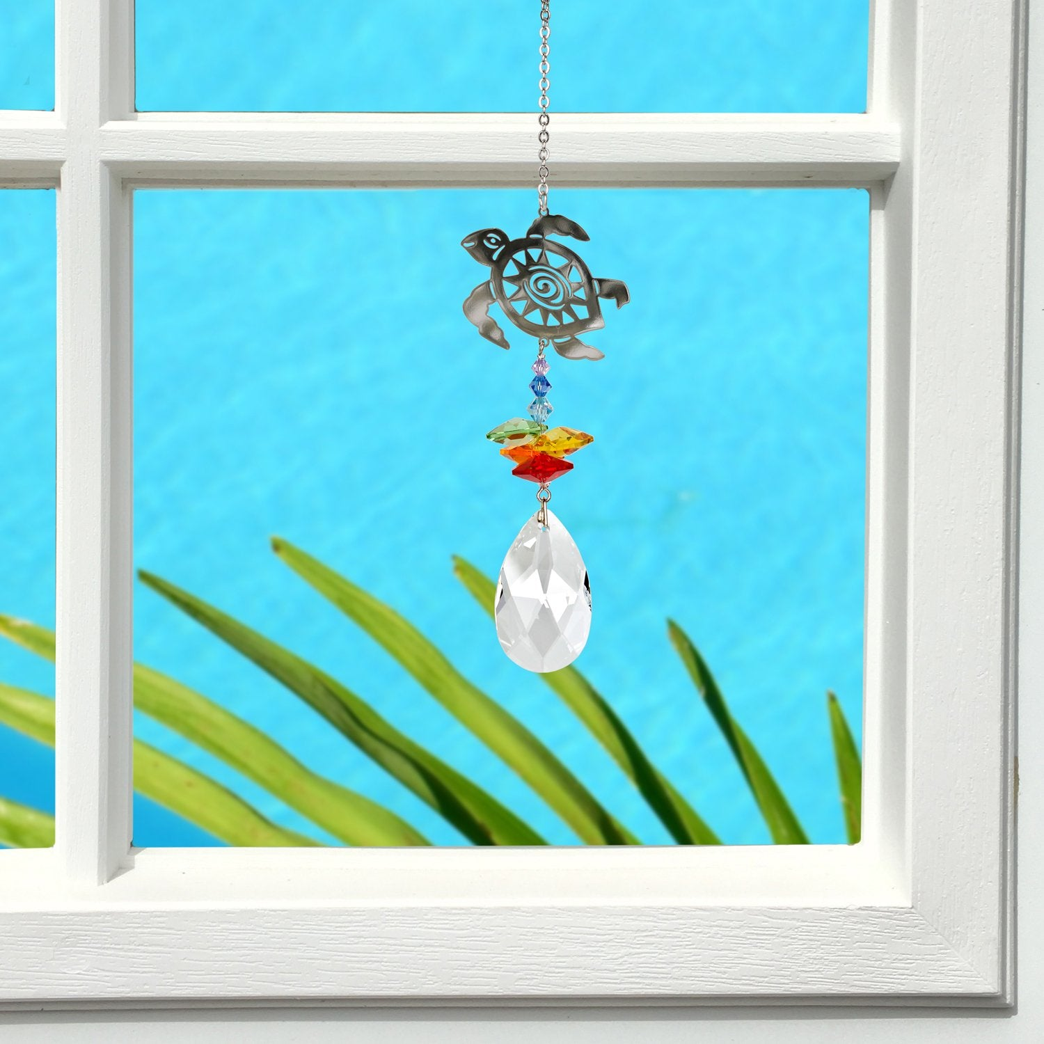 Crystal Fantasy Suncatcher - Turtle lifestyle image
