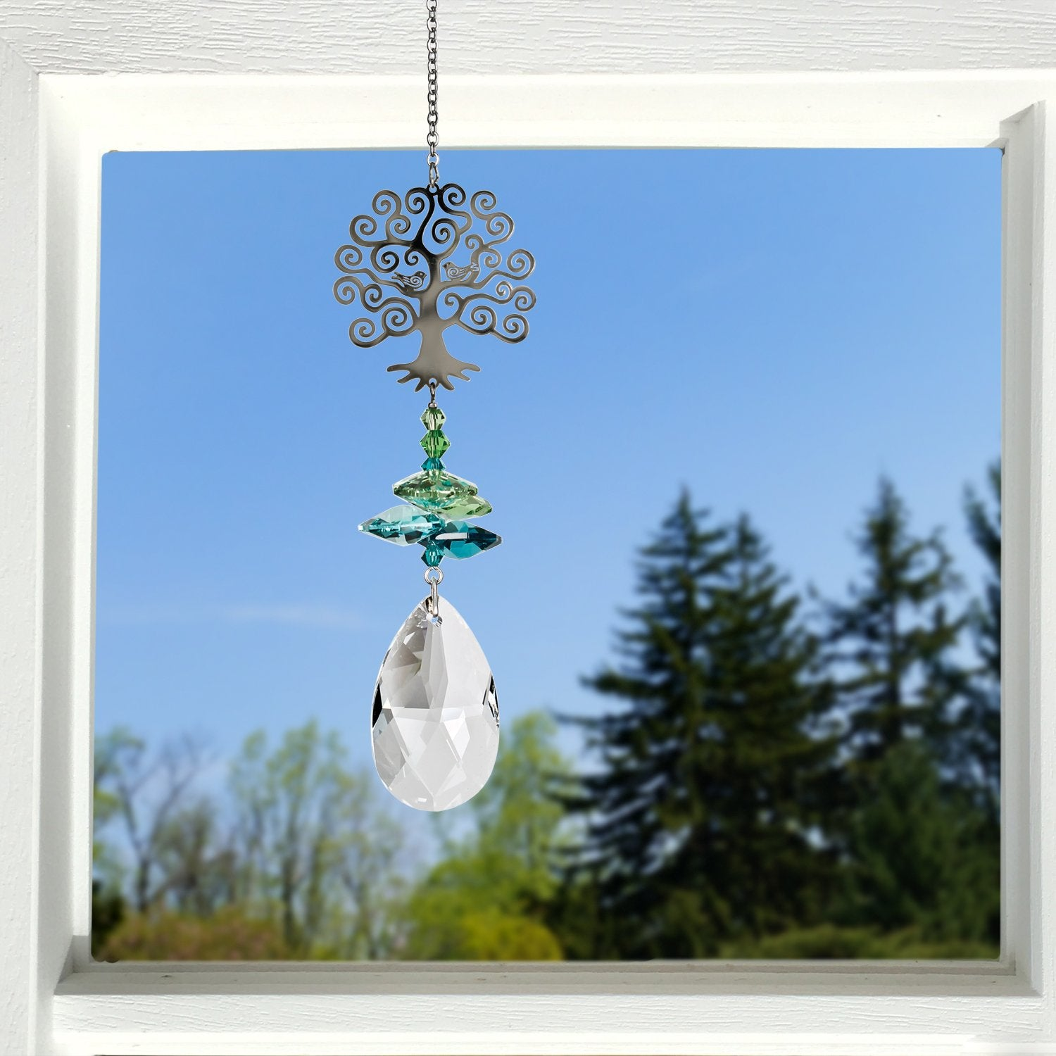 Crystal Fantasy Suncatcher - Tree of Life lifestyle image