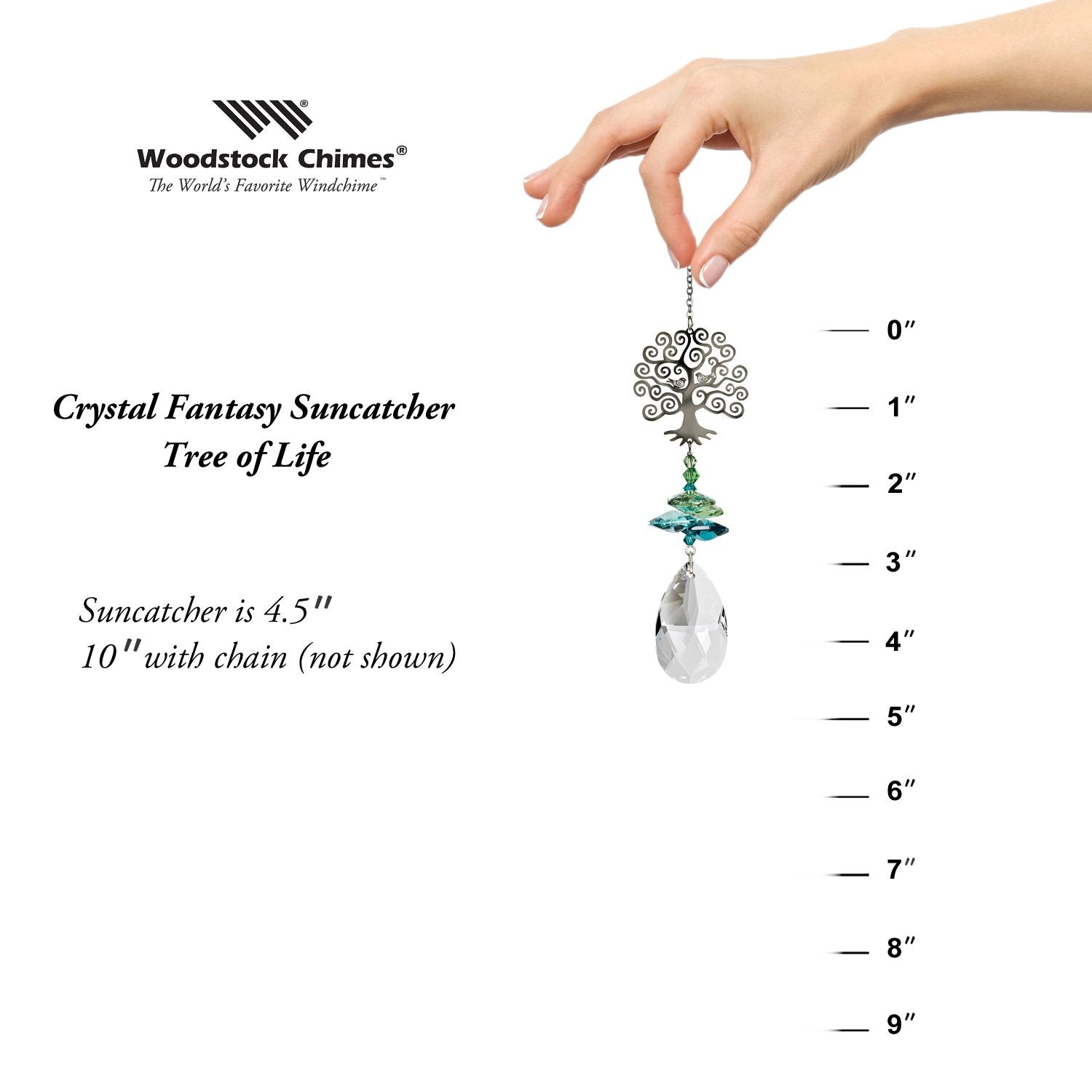 Crystal Fantasy Suncatcher - Tree of Life proportion image