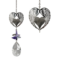 Crystal Fantasy Suncatcher - Winged Heart main image