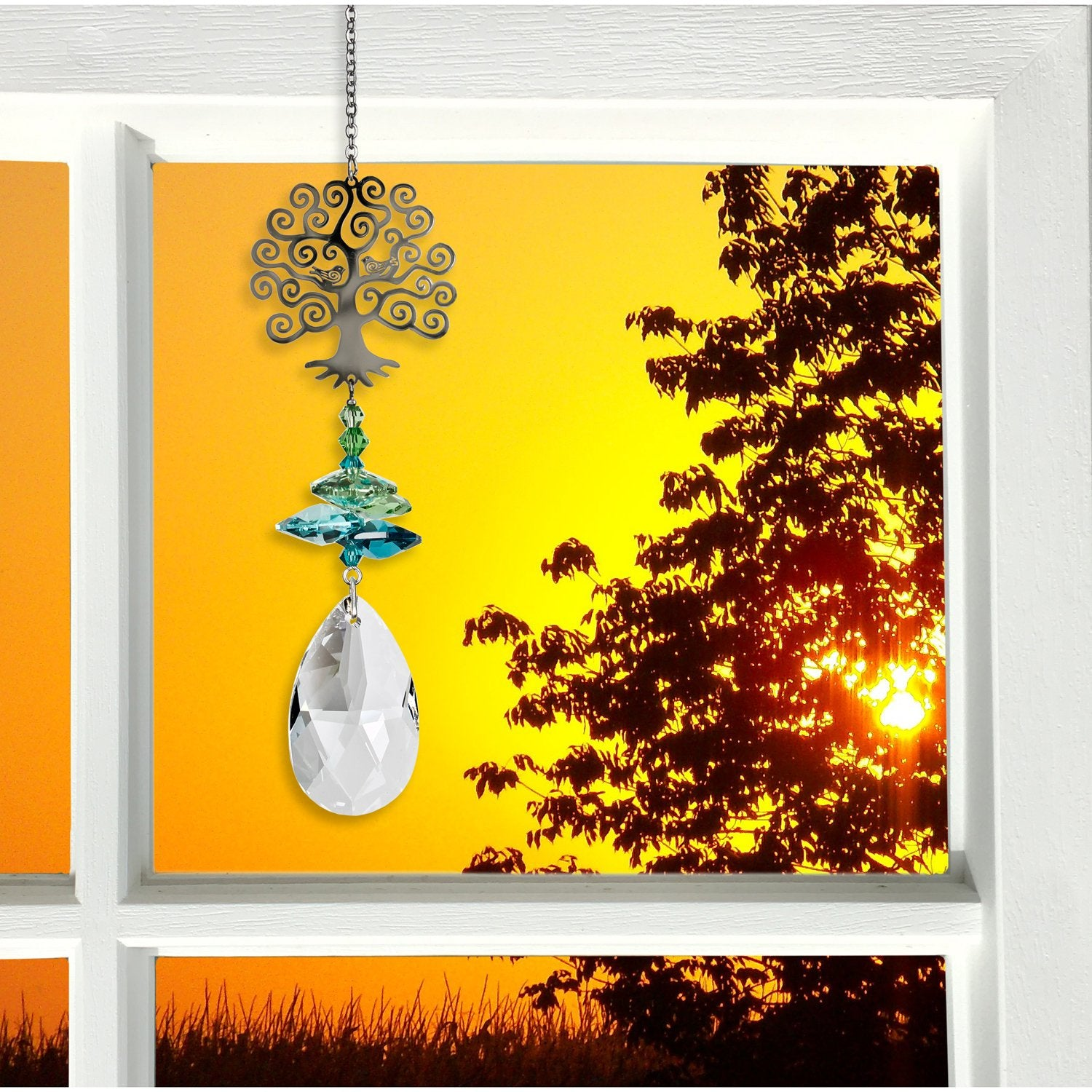 Crystal Fantasy Suncatcher - Large, Tree of Life lifestyle image