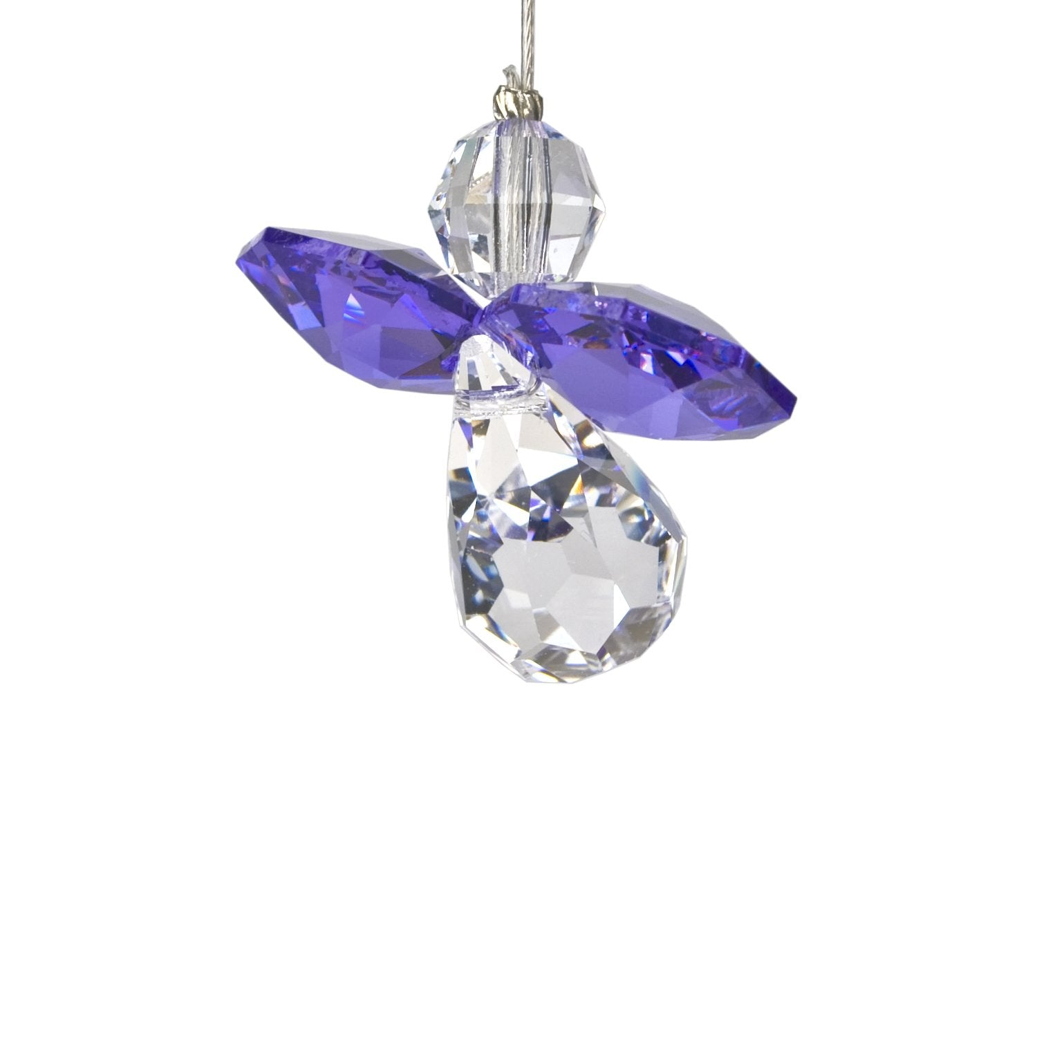 Crystal Guardian Angel Suncatcher - Amethyst (February) main image