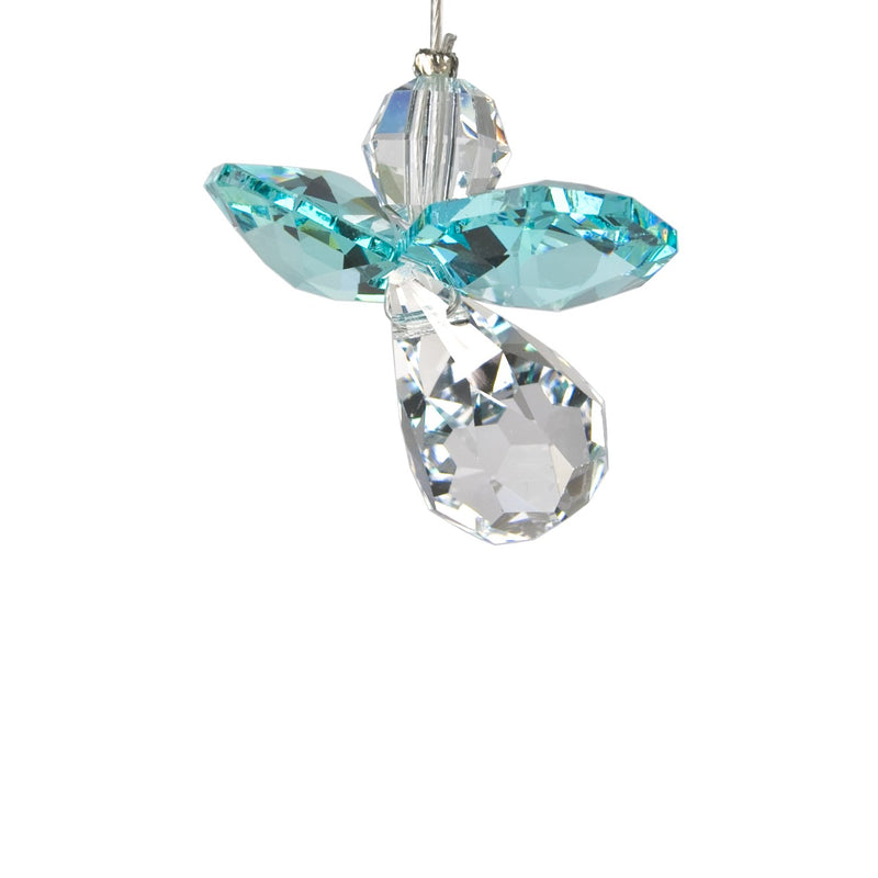 Crystal Guardian Angel Suncatcher - Blue Zircon (December) main image