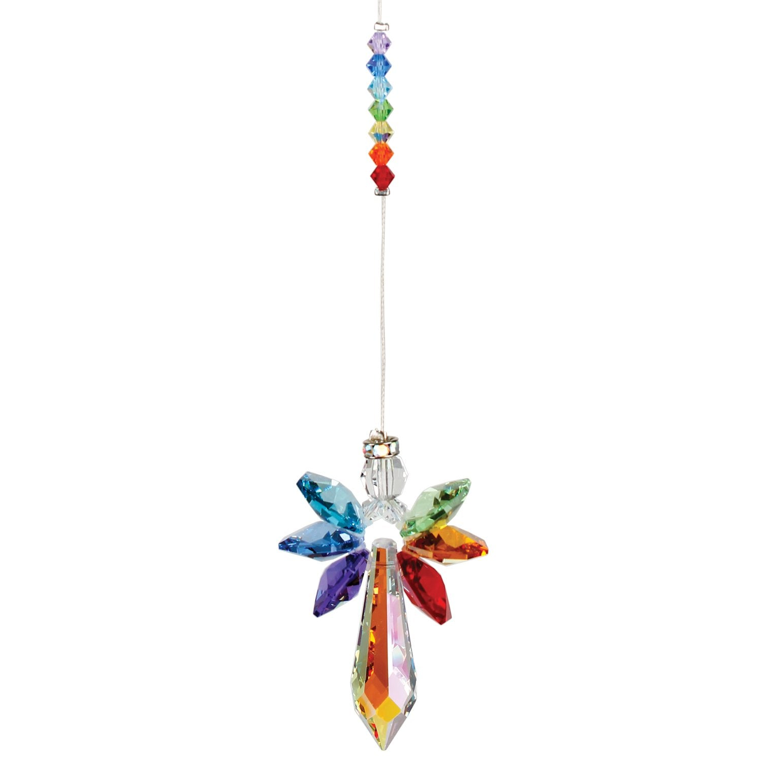 Crystal Guardian Angel Suncatcher - Large, Chakra alternate product image