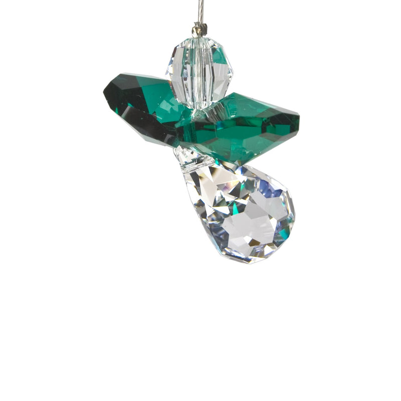 Crystal Guardian Angel Suncatcher - Emerald (May) main image