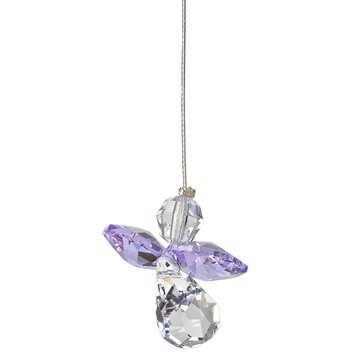 Crystal Guardian Angel Suncatcher - Light Amethyst (June) alternate product image