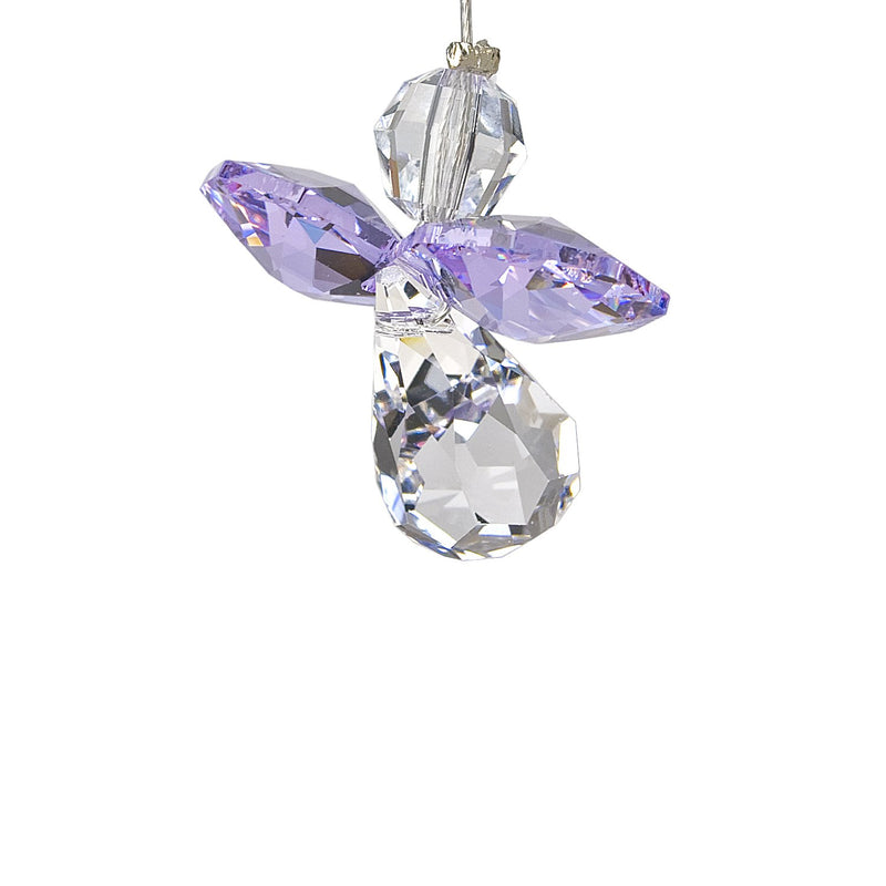 Crystal Guardian Angel Suncatcher - Light Amethyst (June) main image