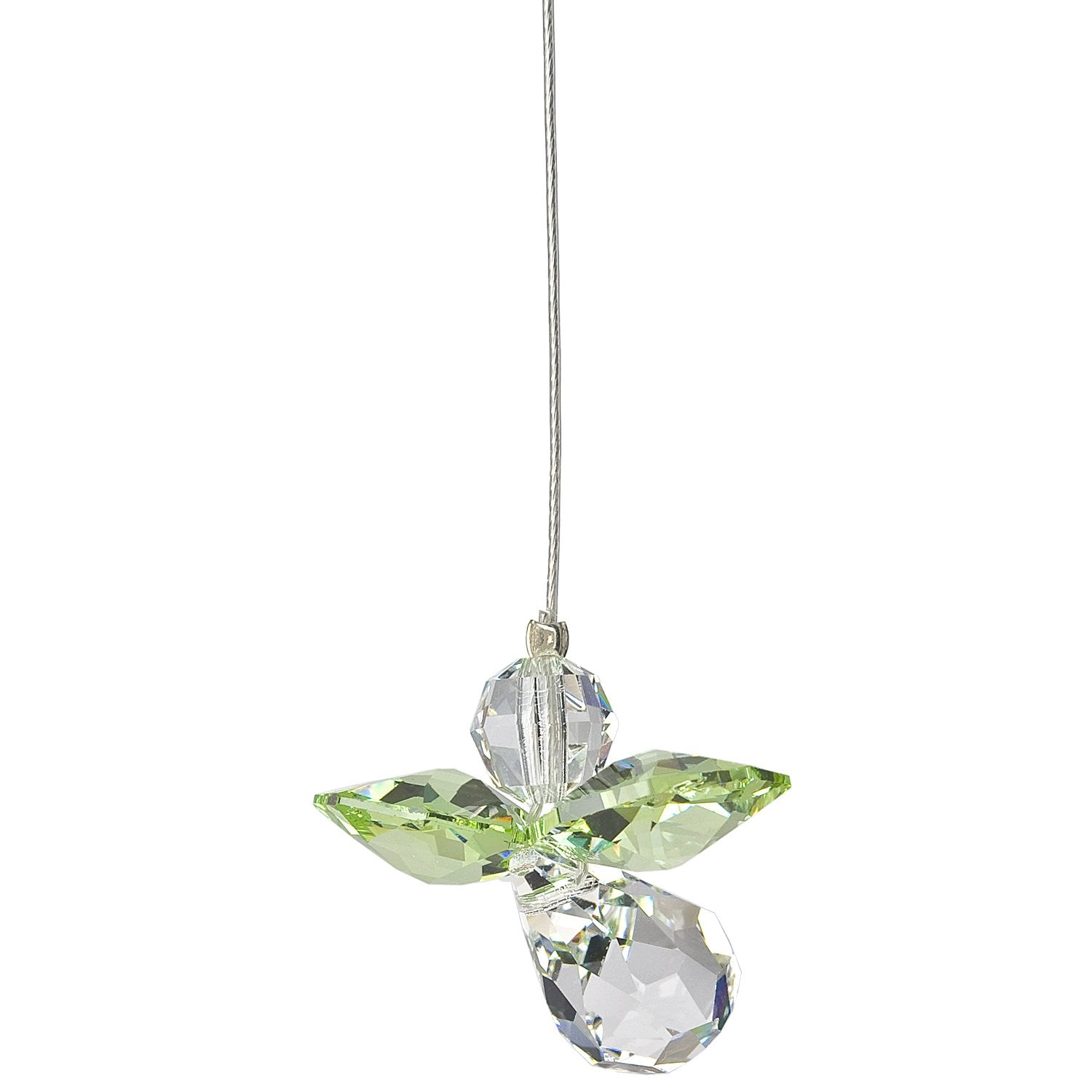 Crystal Guardian Angel Suncatcher - Peridot (August) alternate product image