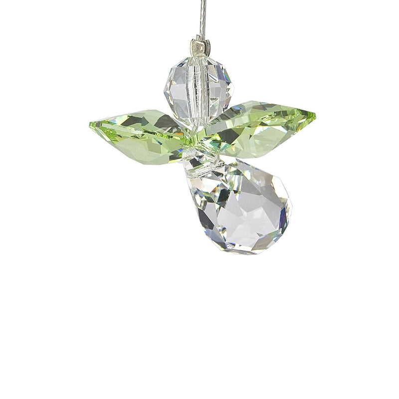 Crystal Guardian Angel Suncatcher - Peridot (August) main image