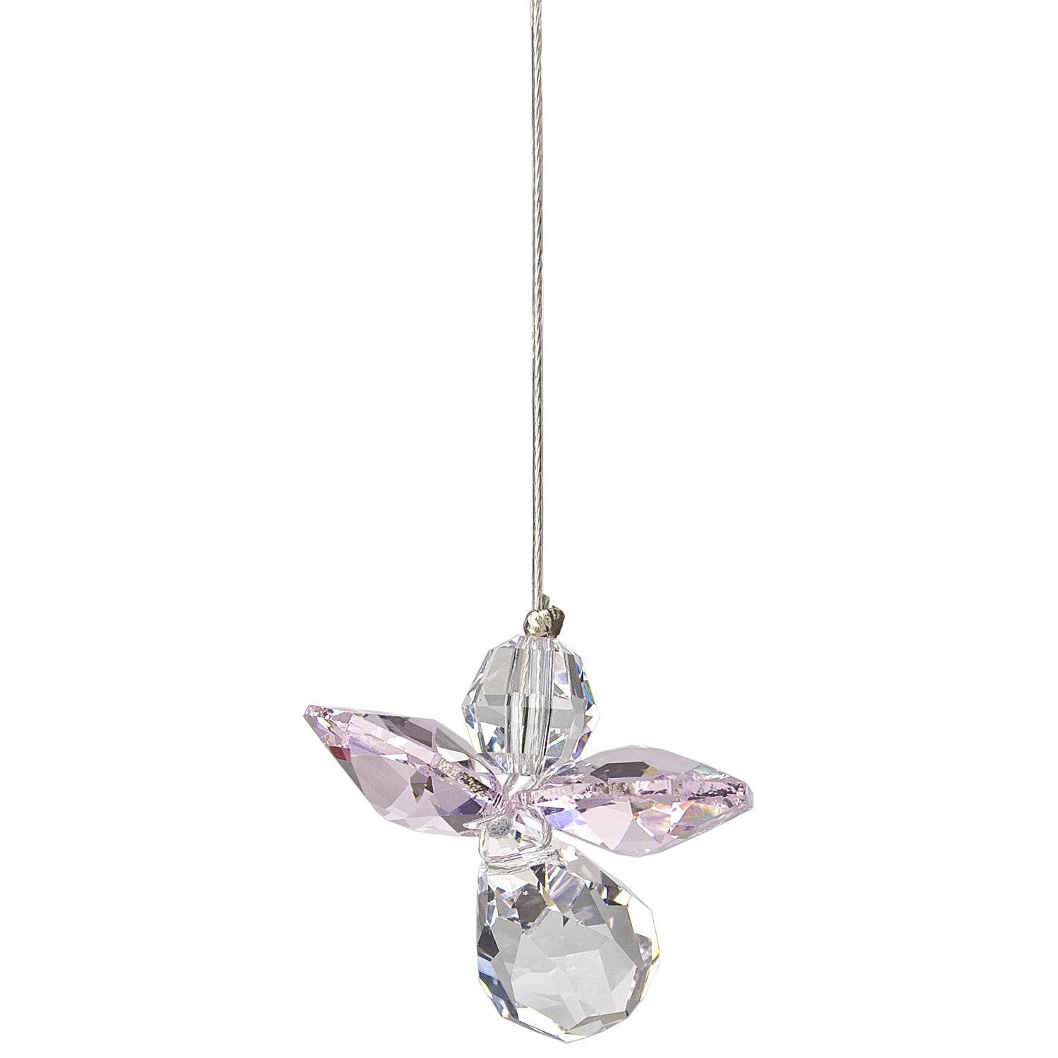 Crystal Guardian Angel Suncatcher - Rose (October) alternate product image