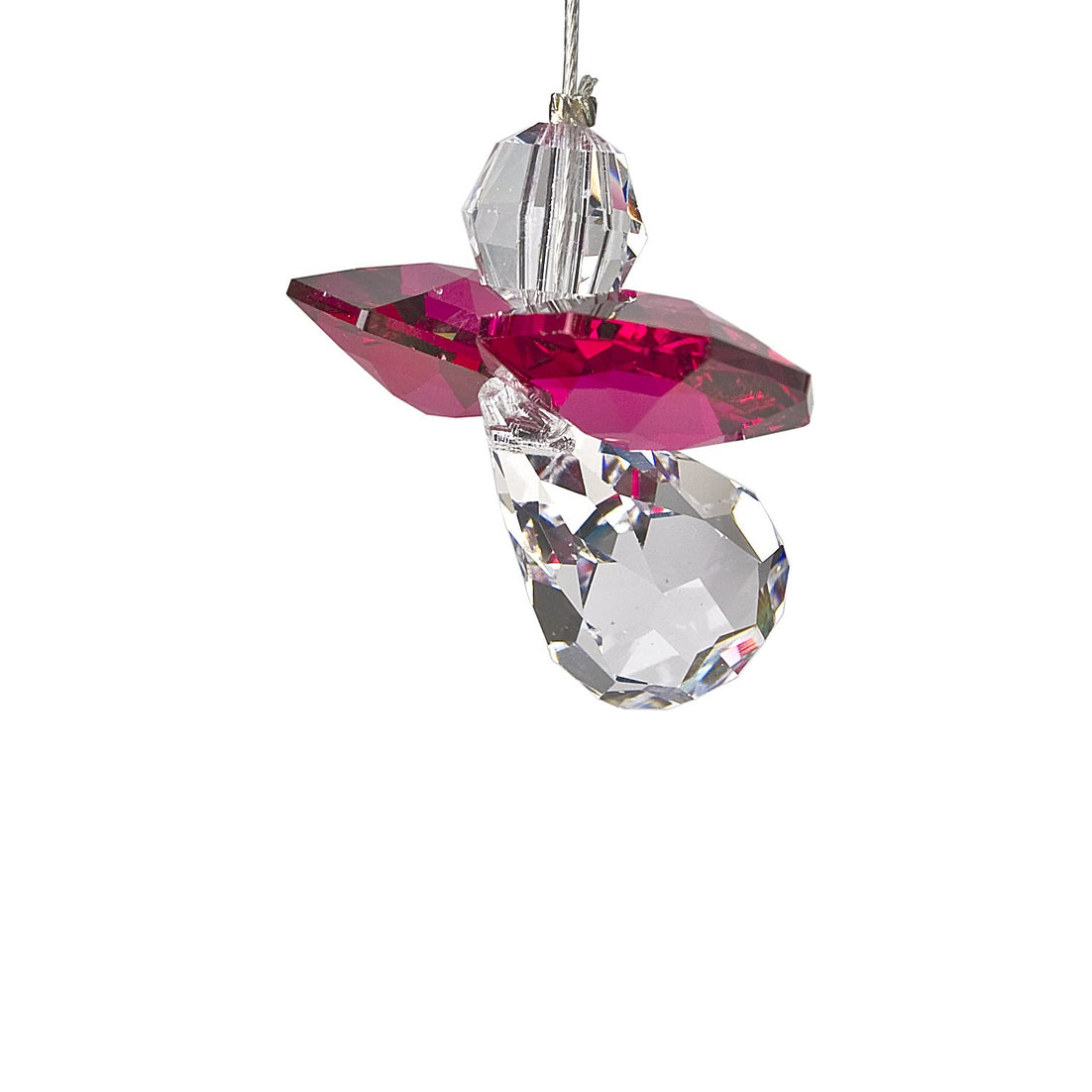 Crystal Guardian Angel Suncatcher - Ruby (July) main image