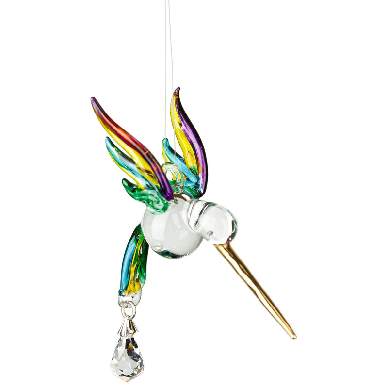 Fantasy Glass Suncatcher - Hummingbird, Spring Pastels main image