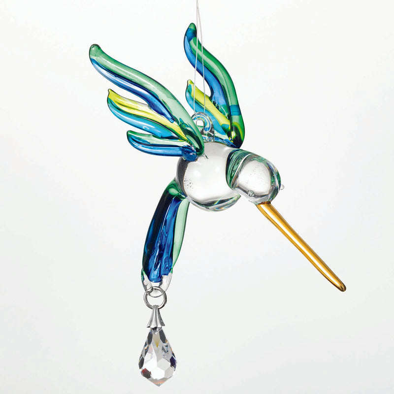 Fantasy Glass Suncatcher - Hummingbird, Peacock main image