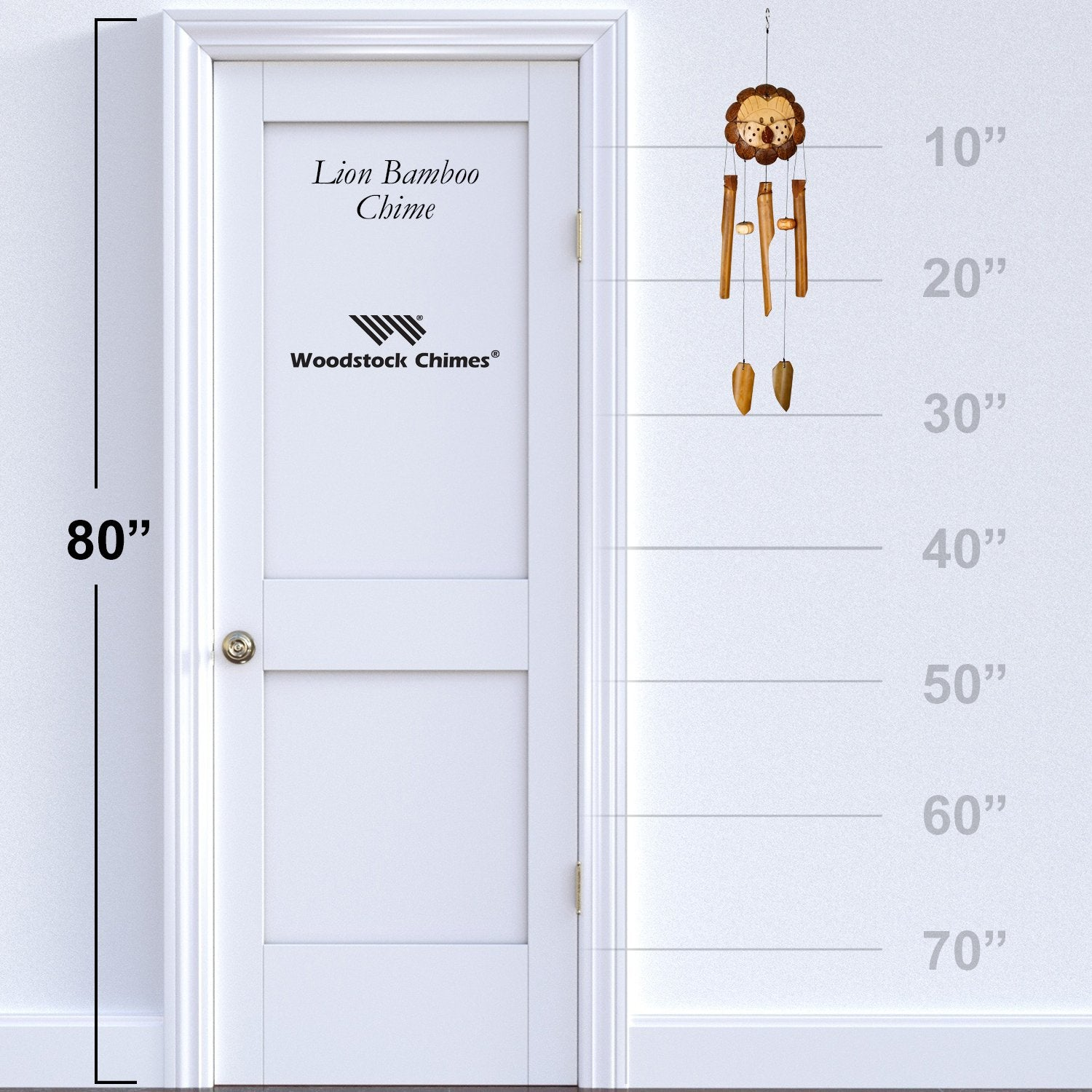 Lion Bamboo Chime proportion image