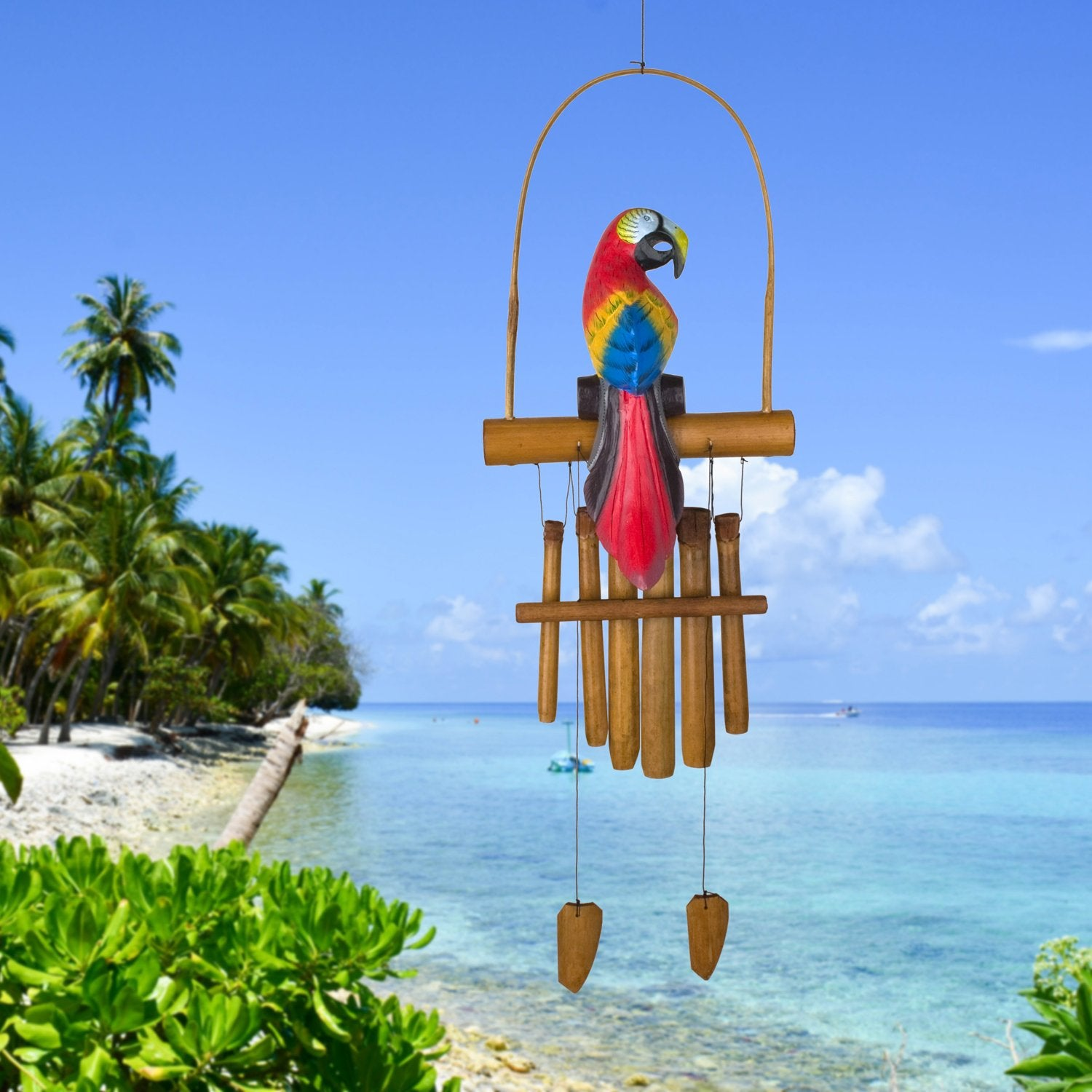 Animal Bamboo Chime - Parrot lifestyle image