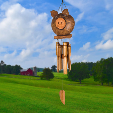 Coco Pig Bamboo Chime proportion image