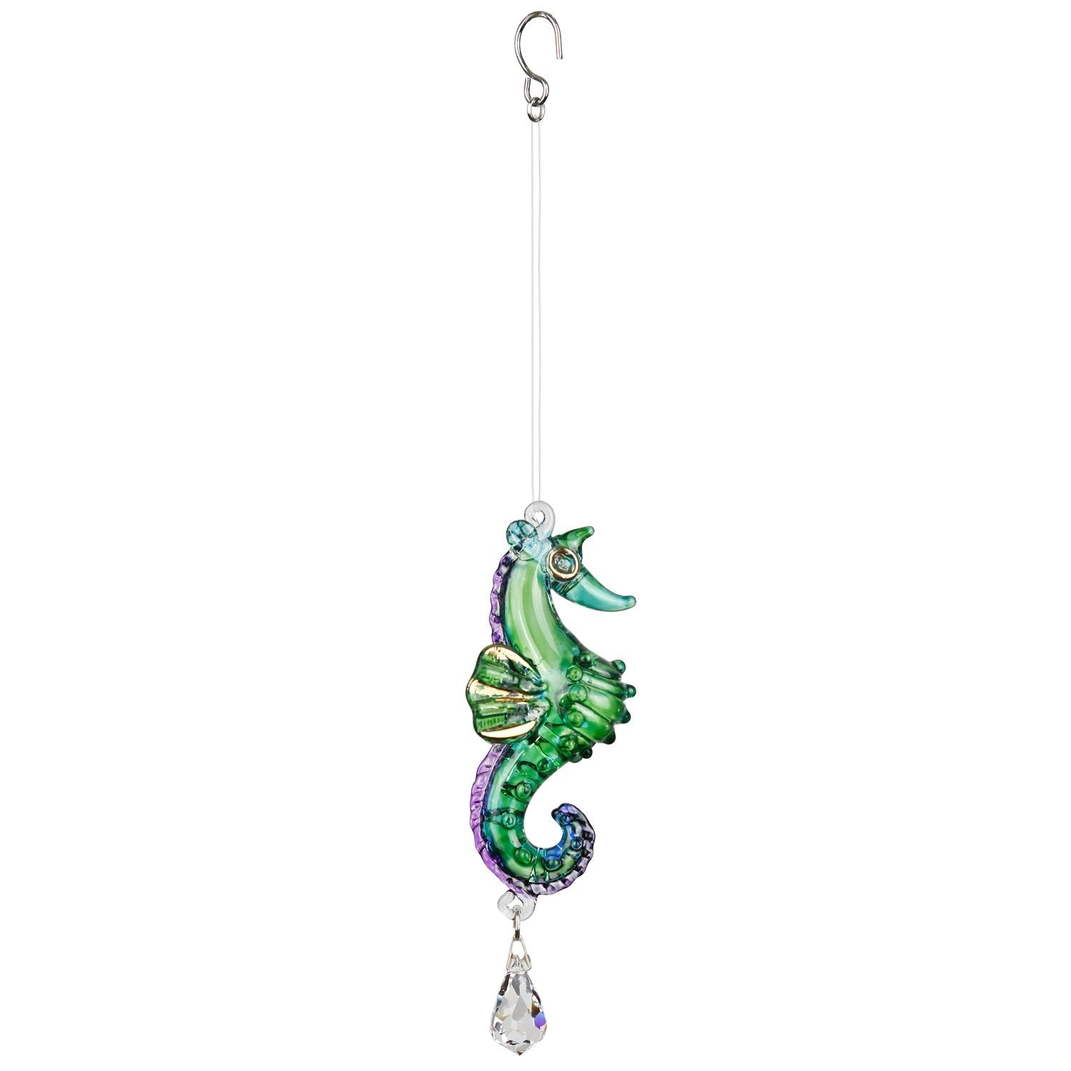 Fantasy Glass Suncatcher - Seahorse, Peacock full product image