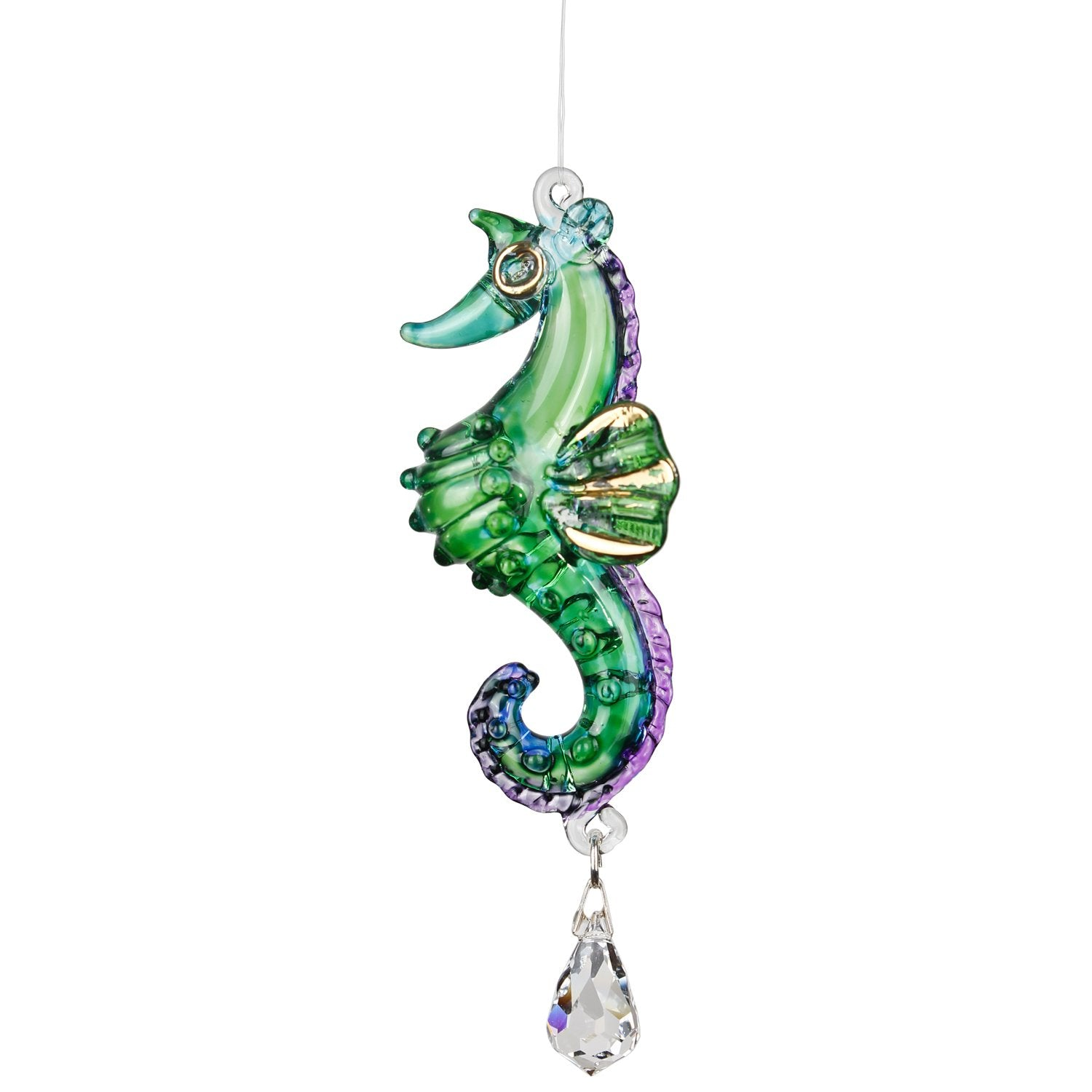 Fantasy Glass Suncatcher - Seahorse, Peacock main image