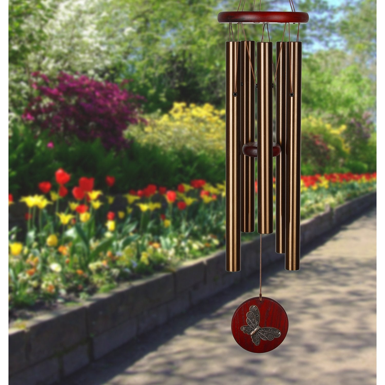 Habitats Chime - Bronze, Butterfly lifestyle image