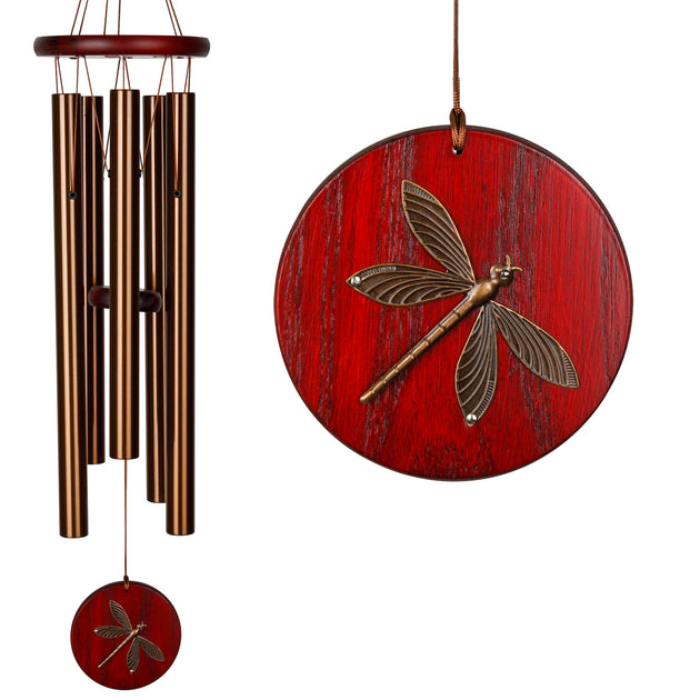 Habitats Chime Bronze Dragonfly By Woodstock Chimes