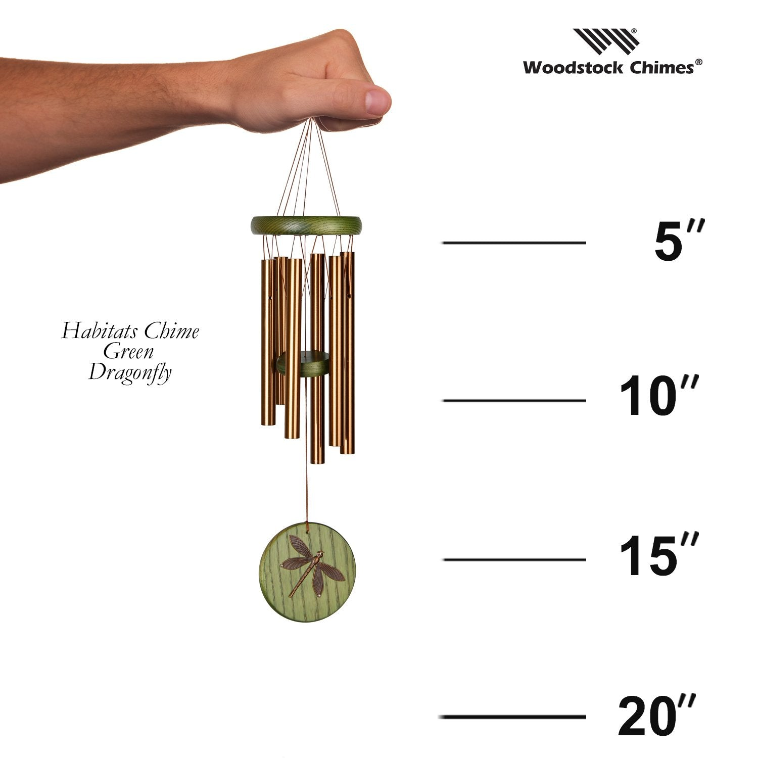 Habitats Chime - Green, Dragonfly proportion image