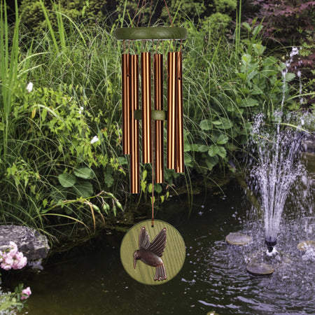 Woodstock Habitats Chime - Green, Hummingbird, Small musical scale