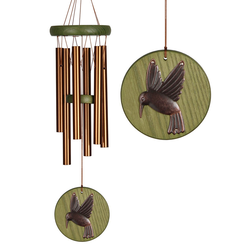 Woodstock Habitats Chime - Green, Hummingbird, Small main image