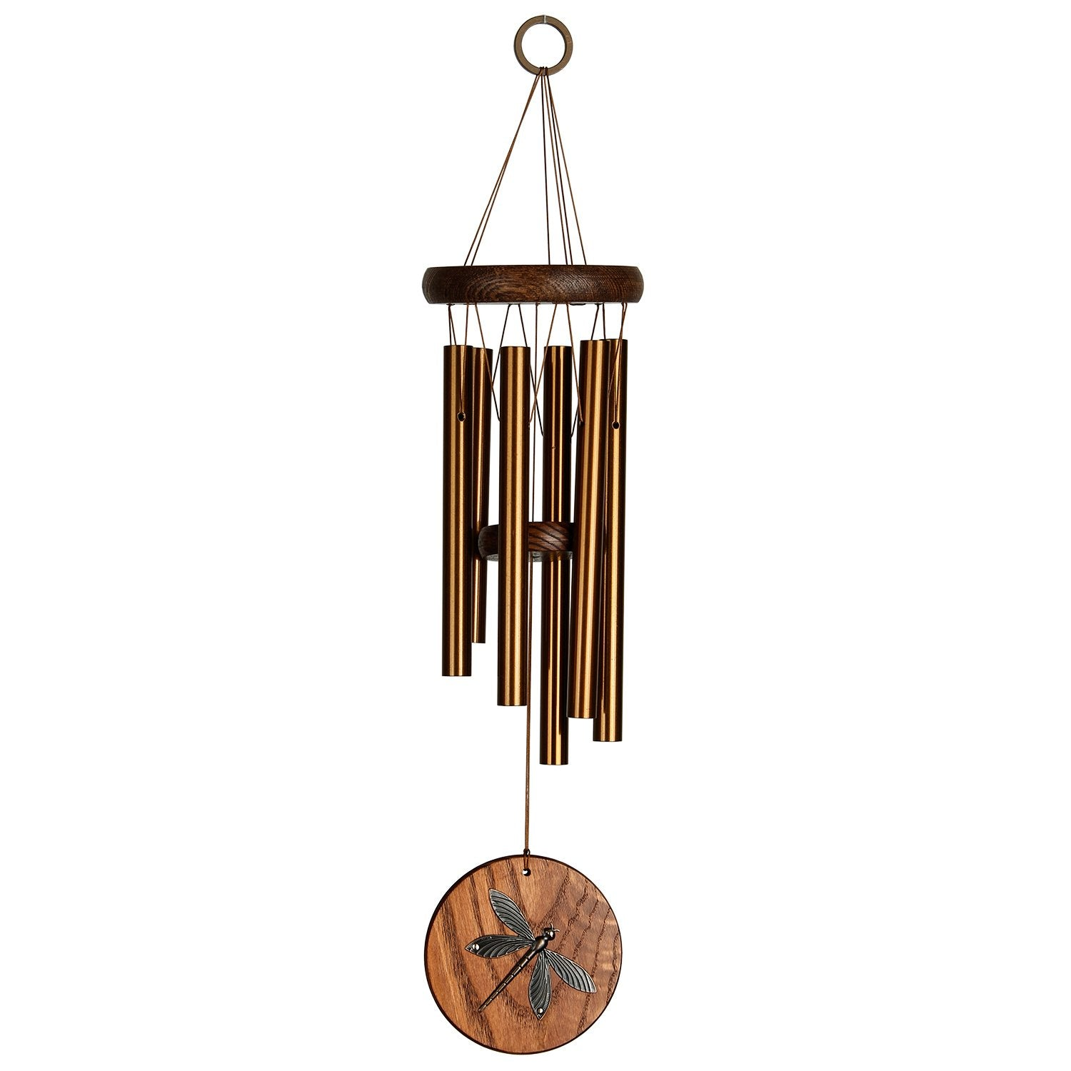 Woodstock Habitats Chime - Teak, Dragonfly full product image