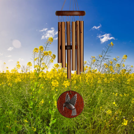 Woodstock Habitats Chime - Teak, Hummingbird musical scale