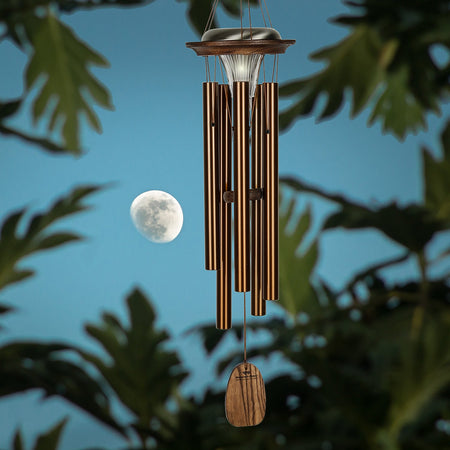 Moonlight Solar Chimes - Bronze musical scale