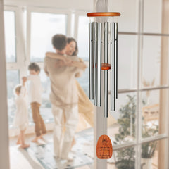 Personalize It! Housewarming Amazing Grace Chime - Large, Silver, May Your Home main image