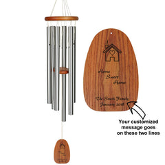 Personalize It! Housewarming Amazing Grace Chime - Large, Silver, Home Sweet Home main image