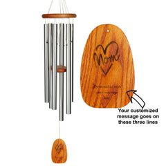 Personalize It! Mother's Day Amazing Grace Chime - Large, Silver, Mom Heart main image