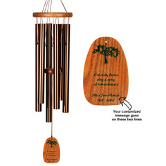 Personalize It! Sympathy Amazing Grace Chime - Medium Bronze, Remembrance main image
