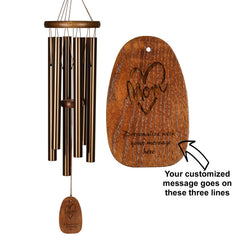 Personalize It! Mother's Day Amazing Grace Chime - Medium, Bronze, Mom Heart main image