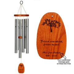 Personalize It! Sympathy Amazing Grace® Chime - Medium Silver, Forever