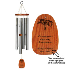 Personalize It! Sympathy Amazing Grace Chime - Medium Silver, Remembrance main image