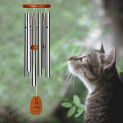 Personalize It! Pet Sympathy - Cat Amazing Grace Chime - Medium, Silver, Not Forgotten main image