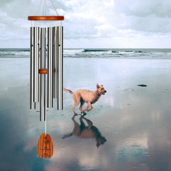 Personalize It! Pet Sympathy - Dog Amazing Grace Chime - Medium, Silver, Not Forgotten main image