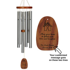 Personalize It! Housewarming Amazing Grace Chime - Medium, Silver, May Your Home main image