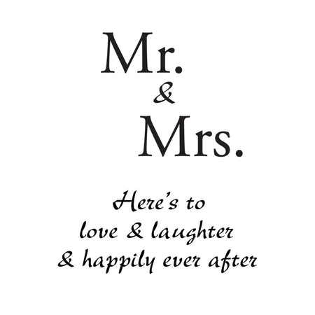 Personalize It! Wedding Chime - Mr+Mrs - Happily Ever After