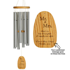 Personalize It! Wedding Chime – Mr+Mrs - Happily ever after main image