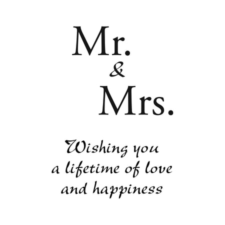 Personalize It! Wedding Chime - Mr+Mrs - Love and happiness