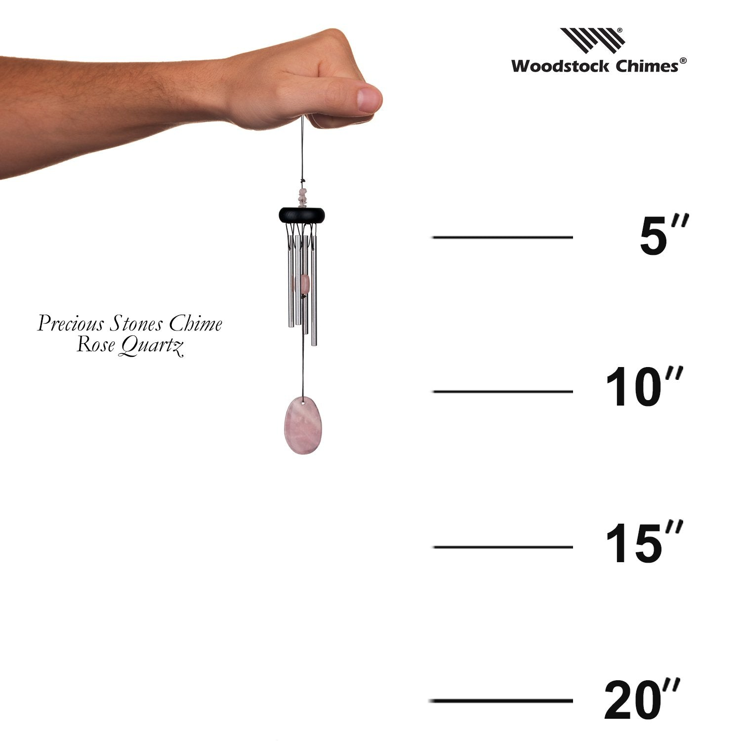 Precious Stones Chime - Rose Quartz proportion image