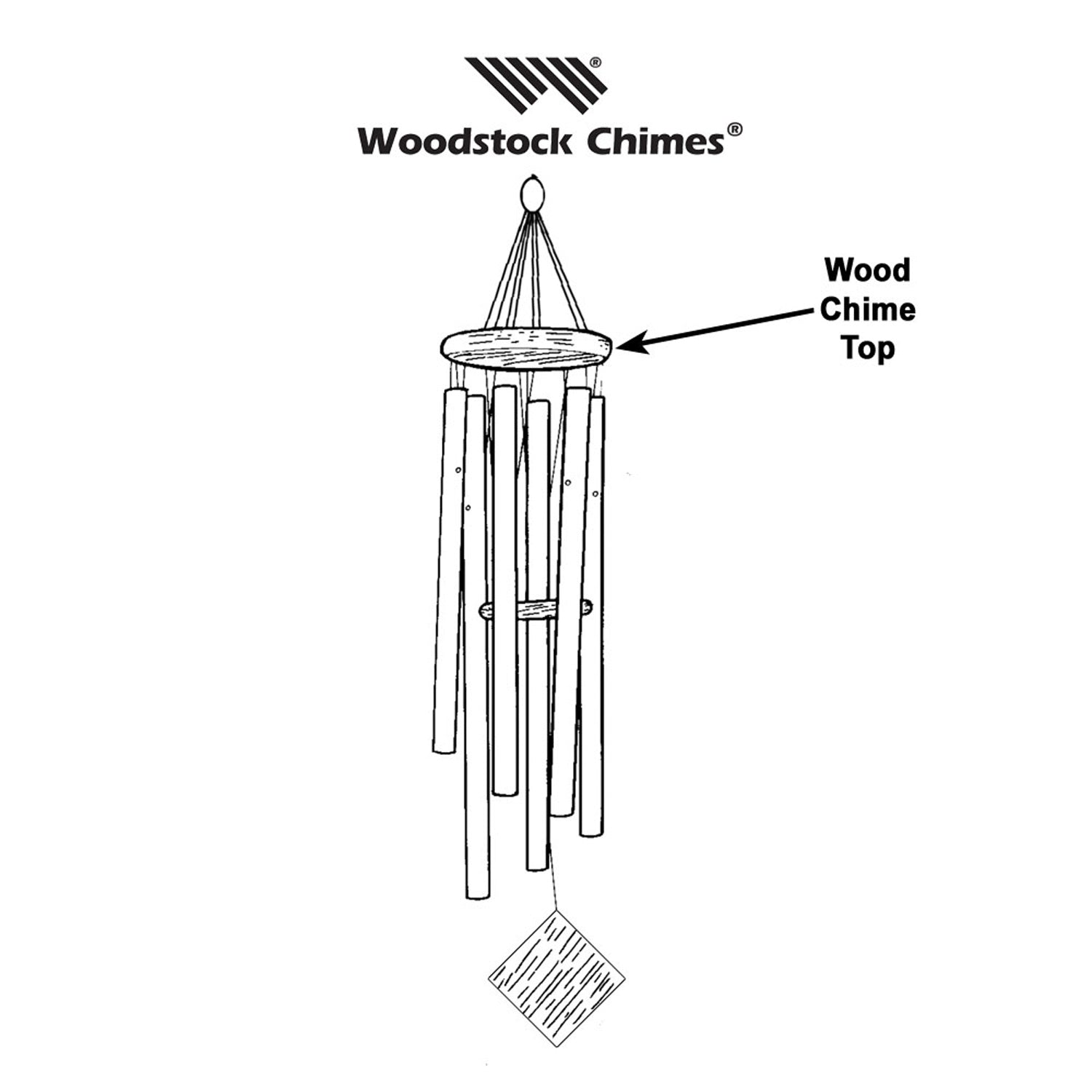5.25-inch Wood Chime Top for Encore Chimes alternate image