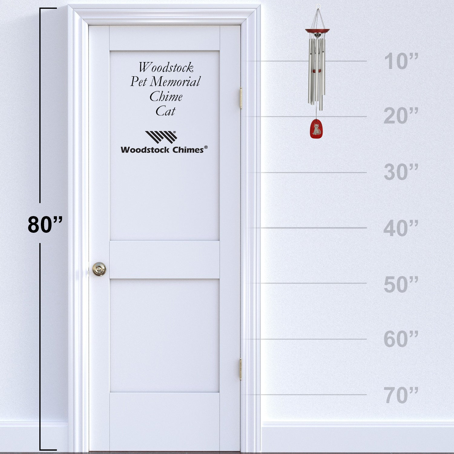 Pet Memorial Chime - Cat proportion image